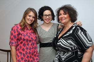 (Left to right) Panel members: Capella Kincheloe, Amy Preiser, and Susan Ferrier. Photo by Ben Rose.